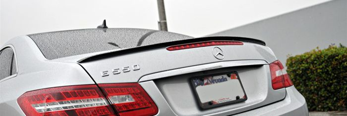OEM Style Carbon Fiber Trunk Lip Spoiler for C207 Coupe