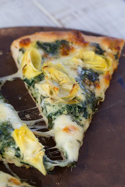 Recipe For Spinach Artichoke Pizza - One of the best pizzas I've ever made. Yes, it was that good!