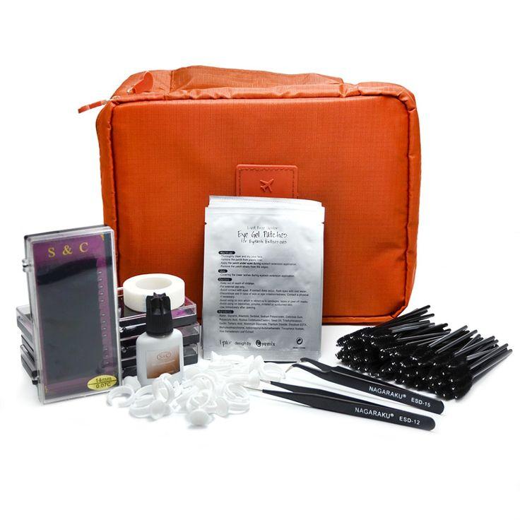 Nuevo Portable profesional del Kit de extensión de pestañas falsas pestañas maquillaje conjunto