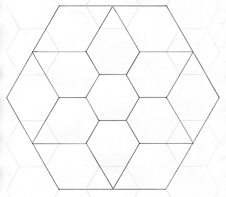 1351 best English paper piecing images on Pinterest Hexagon - octagon graph paper
