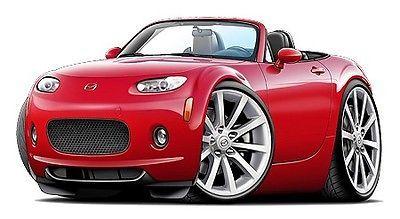 2006-08-Mazda-Miata-Car-Art-Cartoon-Tshirt-NEW-FREE-SHIP