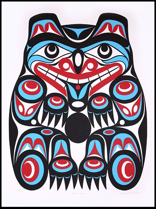 Black Bear by Joe Wilson Coast Salish Nation