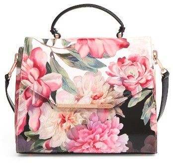 Ted Baker London Payeton Posie Large Leather Satchel - Pink