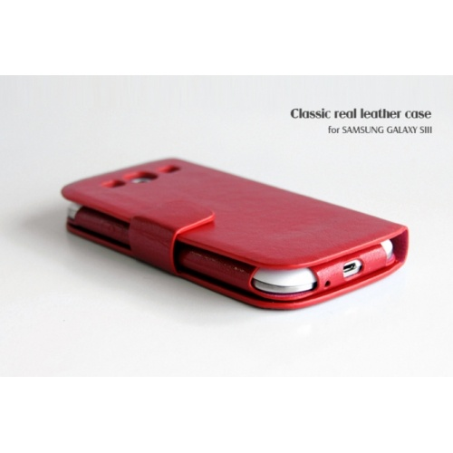 BOROFONE Classic Genuine Leather Case For Samsung Galaxy S3 i9300 - Red US$25.69Red Us2569, Leather Case, Black Us2569