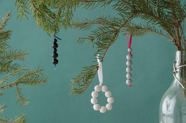 Askartele joulukoristeet lasten kanssa: Helpot puupallokoristeet | K-ruoka #joulu