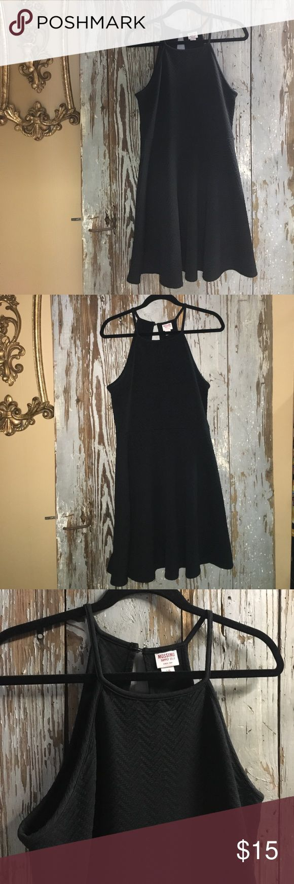 Black high neck dress High neck dress. Quilted texture. Light weight but not see through. Knee length. Great for summer weddings. *consignment item - she's firm on price* Dresses