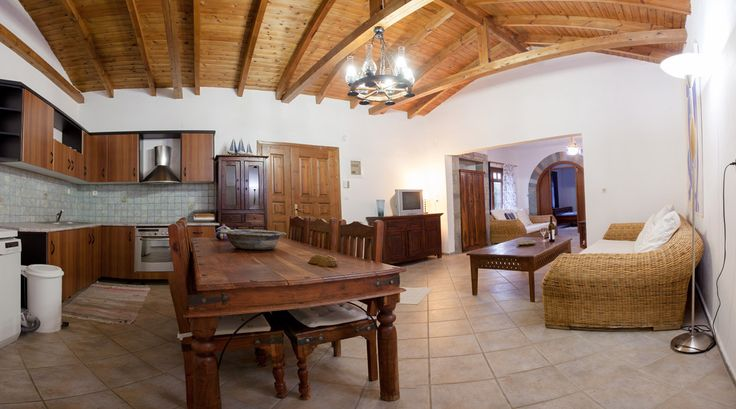 Sterlitsia- Open plan kitchen and dining area @ Porto Koufo Resort - Halkidiki