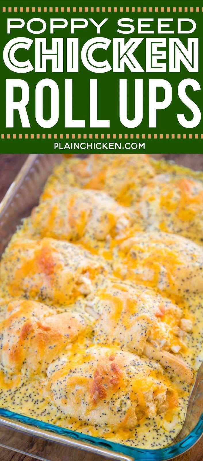 Poppy Seed Chicken Roll Ups - Plain Chicken