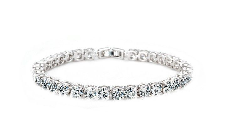 AAA+ Round 0.5 carat  Cubic Zirconia Tennis Bracelet for woman Free Shipping