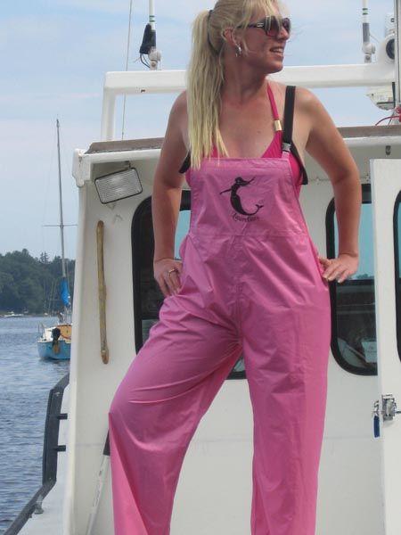 Jem Jigs Pants waterproof http://jemjigs.com/store/pants/pink-rain-bibs/overalls/?mobile=0