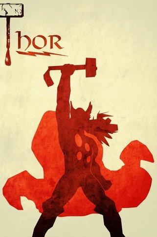 Love Thor >> minimalist art movie print by Harshness @Etsy minimalist design
