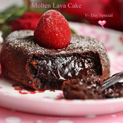Molten Lava Cake | Valentines Day Special Dessert ~ Sankeerthanam (Reciperoll.com)|Recipes | Cake Decorations | Cup Cakes |Food Photos