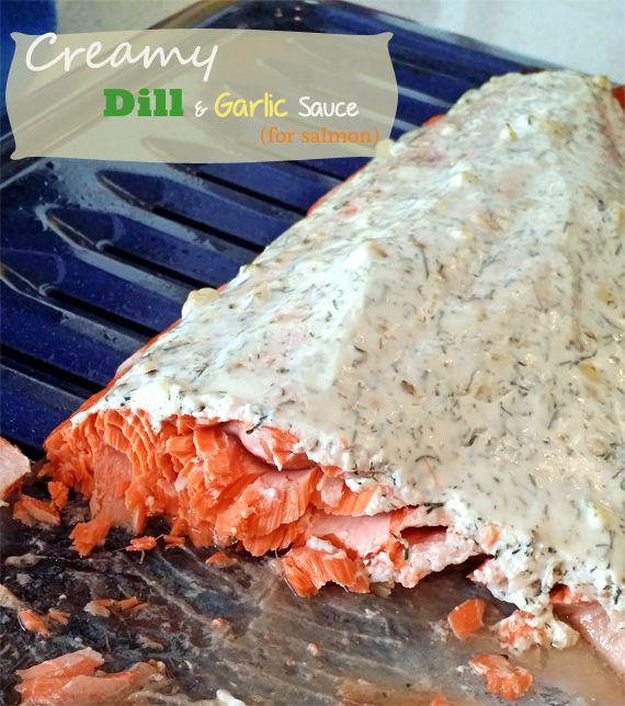 Creamy Dill Garlic Sauce - low fat, gluten free, no mayo!  | BusyButHealthy.com