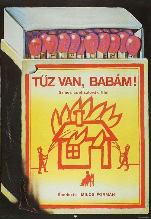 Hungarian poster for The Firemen's Ball (Milos Forman, Czechoslovakia, 1967).