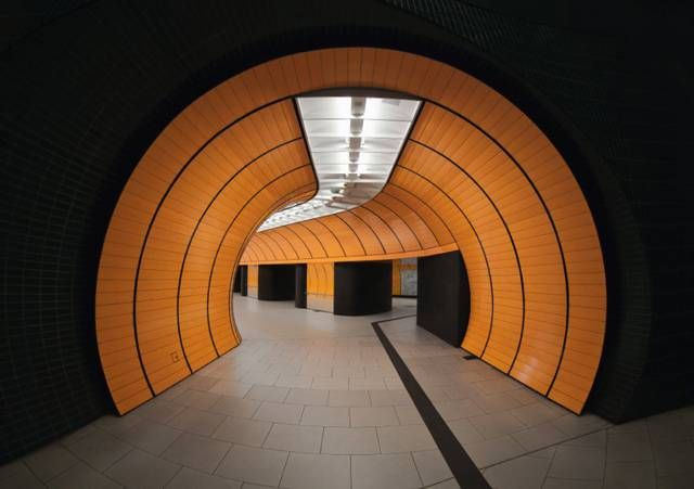 Stazione di Marienplatz - Monaco costruita da Alexander von Branca
