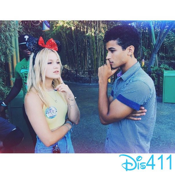 Photo: Jordan Fisher With Olivia Holt At Disneyland Resort For Her Birthday August 5, 2014