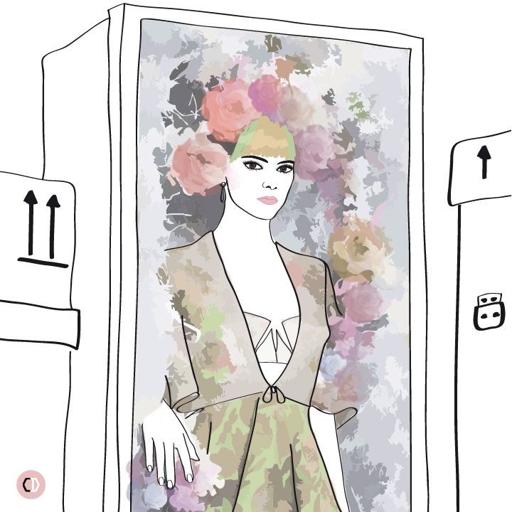 Kendall Jenner by Karl Lagerfeld for Harper's Bazaar US May 2015 - Illustration by @chiara_rigoni #fashion #illustration #KendallJenner #ophelia #CHANEL