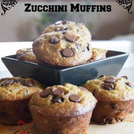 Zucchini Chocolate Chip Muffins-pinnable