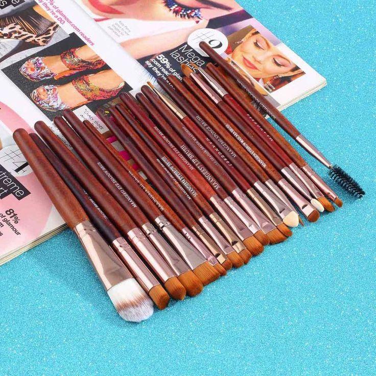 New Professional 20Pcs Cosmetic Makeup Brushes Set Color