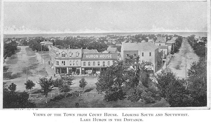 Downtown Goderich, c.1897 #Goderich #RediscoverGoderich #VintageGoderich #TheSquare #LakeHuron