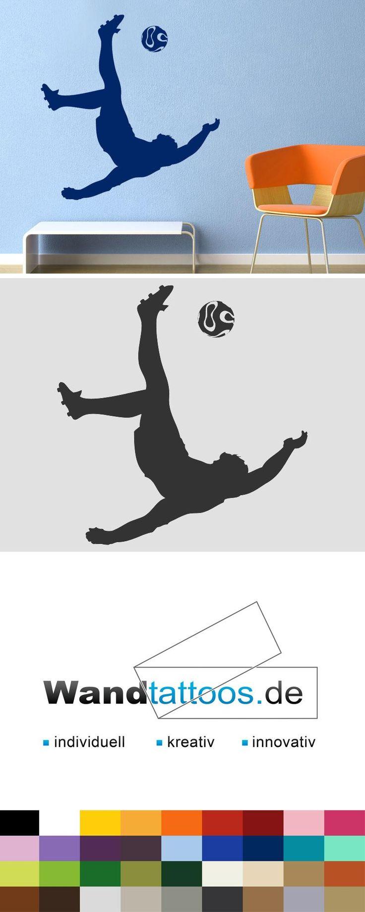 Wandtattoo Fallrückzieher beim Fußball