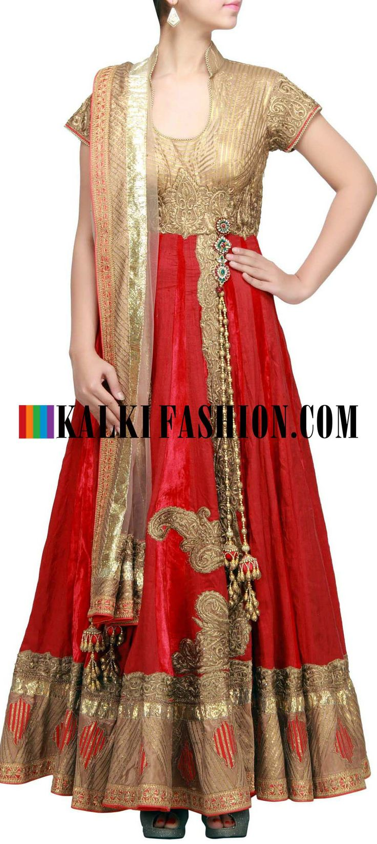 Buy Online from the link below. We ship worldwide (Free Shipping over US$100) http://www.kalkifashion.com/maroon-anarkali-suit-embellished-in-gotta-patti-and-zari-by-harpreet-narula-only-on-kalki.html Maroon anarkali suit embellished in gotta patti and zari by Harpreet Narula only on Kalki