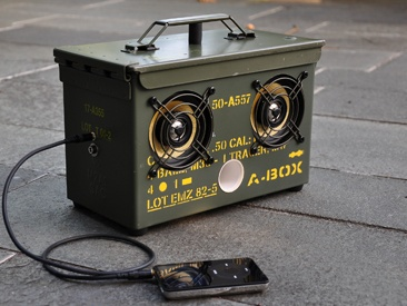 Awesome music box out of an old army ammo box