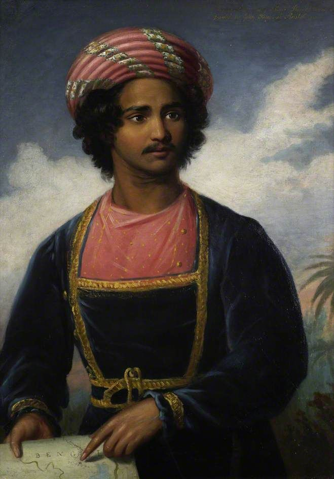 Ram Roy, son of Ram Mohan Roy, 1833. Clerk at the Board of Control. First Indian to be employed in the Indian civil service.