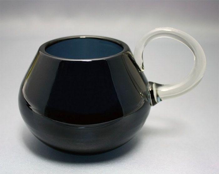 Nanny Still, sour milk mug, Riihimäen Lasi Designed in 1959