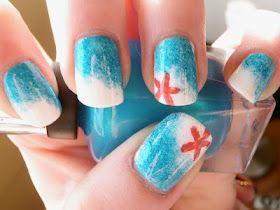 Beach nails: Nails Art, Summer Beach Nails, Nails Design, Beautiful, Starfish, Summer Nails, Nails Ideas, Hair, Ocean Nails