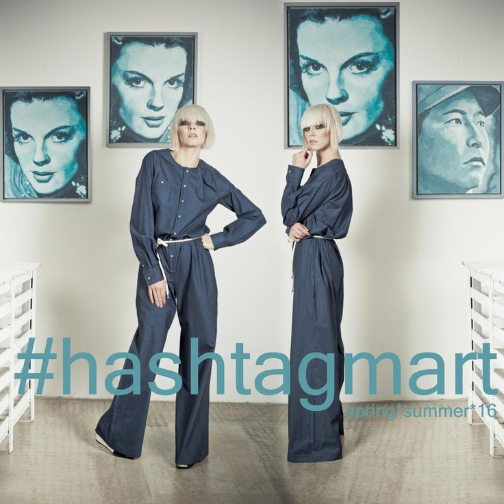 Style tips: Glamour meets denim. Absolutely chic. Lovely denim jumpsuit for your #springsummer. #spring #March21 #style #fashion. http://www.hashtag-mart.com/#!woman/c241t