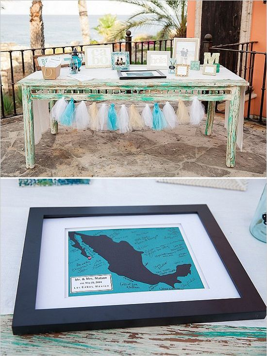 welcome table | beach wedding ideas | destination wedding | tassel decor | guestbook idea #weddingchicks
