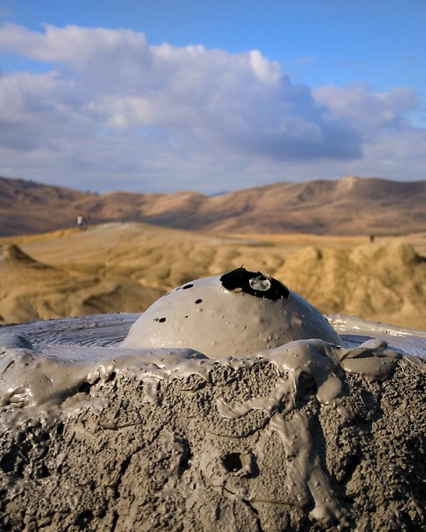 The Berca Mud Volcano in Buzau, Romania