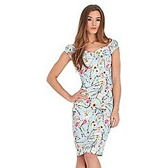 Multi coloured flattering fabulous floral dress