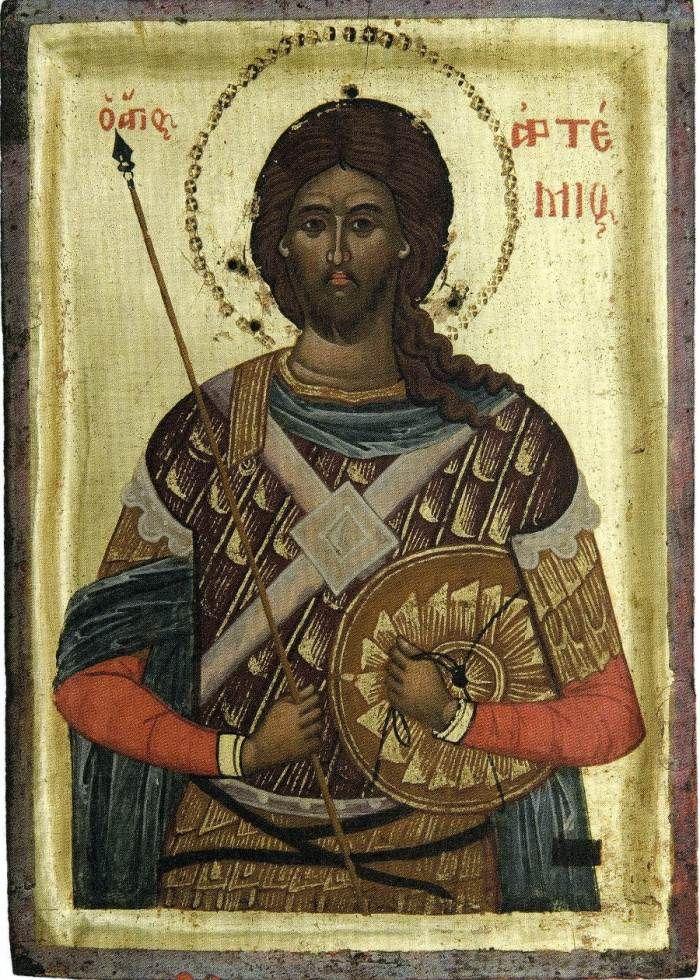 Αγιος Αρτεμιος Ο Μεγαλομαρτυρας (; - 363)  _ oct 209  ( Russian icons