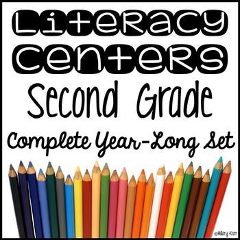 This product is an entire year of Literacy Centers for 2nd grade students. 36 Weeks (Approximately 700 pages) of Literacy Center Activities!Centers Included:Reading ResponseComprehensionVocabulary (Also includes an editable version so you can add your own words.