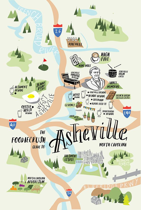 Best 25 Asheville ideas on Pinterest  Asheville NC Map of