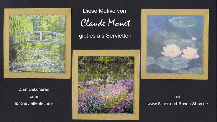 Diese Monet-Motive gibt bei uns als Papierservietten.