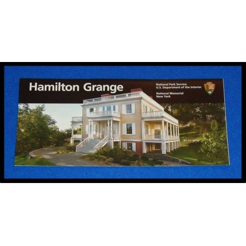 BRAND NEW COOL ALEXANDER HAMILTON GRANGE NATIONAL HISTORICAL SITE PARK BROCHURE - $2.99