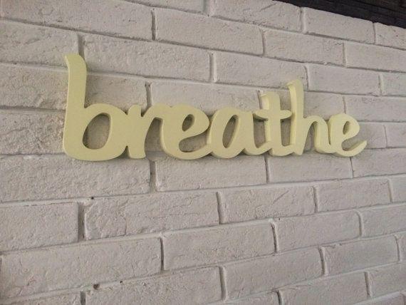 yoga studio decor BREATHE sign yoga pilates wall decor by SunFla