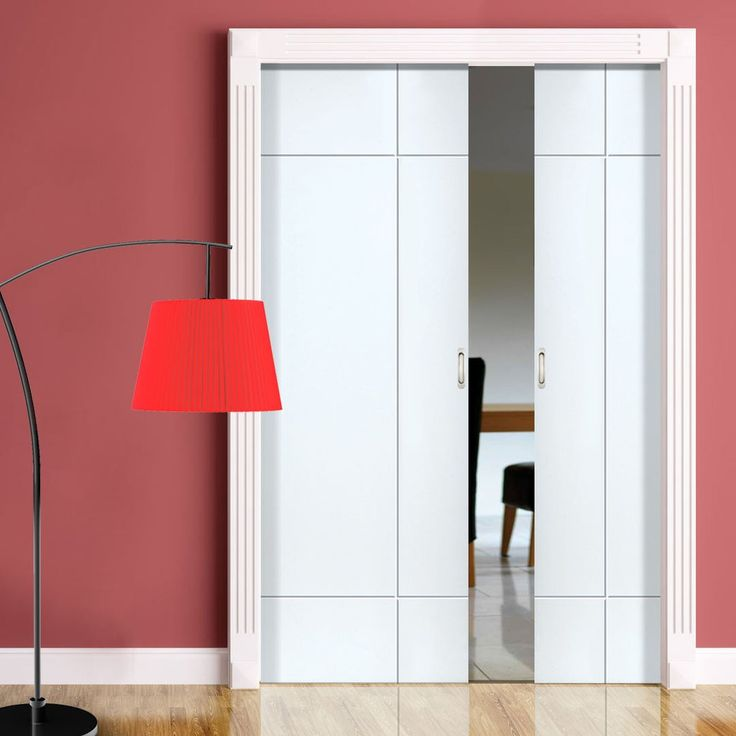 Double Pocket Lyric White sliding door system in three size widths. #whitepocketdoors #internalpocketdoors & 77 best Flush Pocket Door Pairs images on Pinterest | Pocket doors ... Pezcame.Com