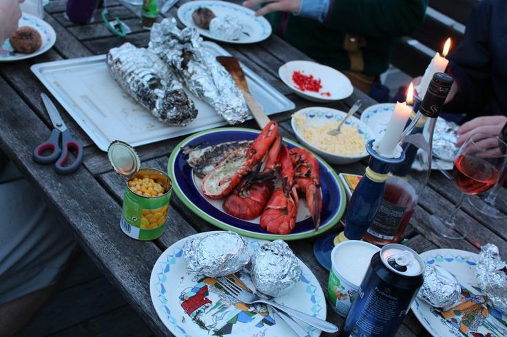 The boys like to eat :)
