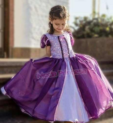 Vestido Disfraz Princesa Rapunzel Enredados - $ 480,00