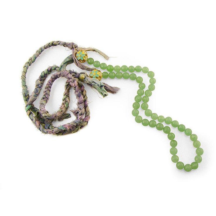 Silk Braided Green Aventurine Necklace - Adorable Adornments