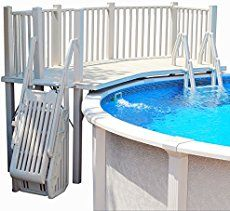 Complete step-by-step tutorial for constructing DIY pool deck for above ground pool! Take your above ground pool to the next levet with this fantastic deck!