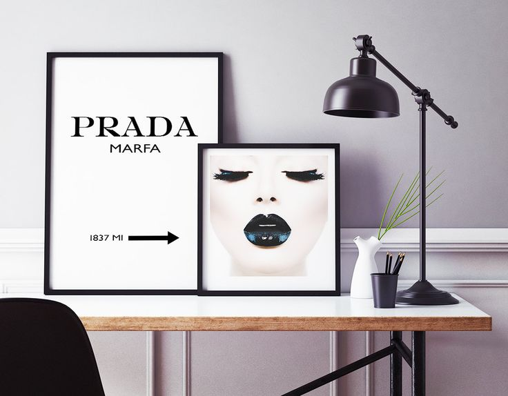 $12 --- Inspired by Scandinavian Art our prints bring warmth and coziness into your home. High Quality Glamour Print. Prada Marfa, Black Make Up. Worldwide Shipping