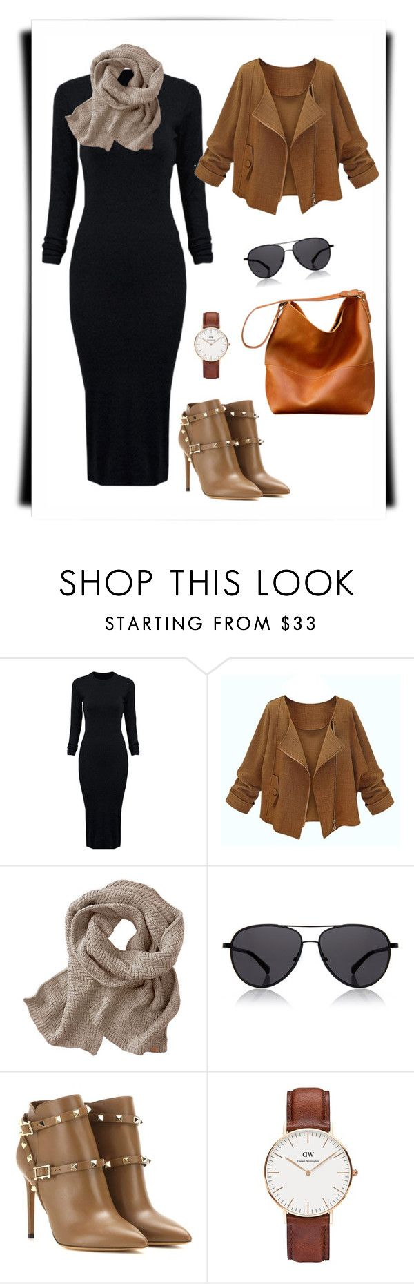 """""""hijab style"""" by fadilla-2122 on Polyvore featuring WithChic, The Row, Valentino, Daniel Wellington, women's clothing, women's fashion, women, female, woman and misses"""