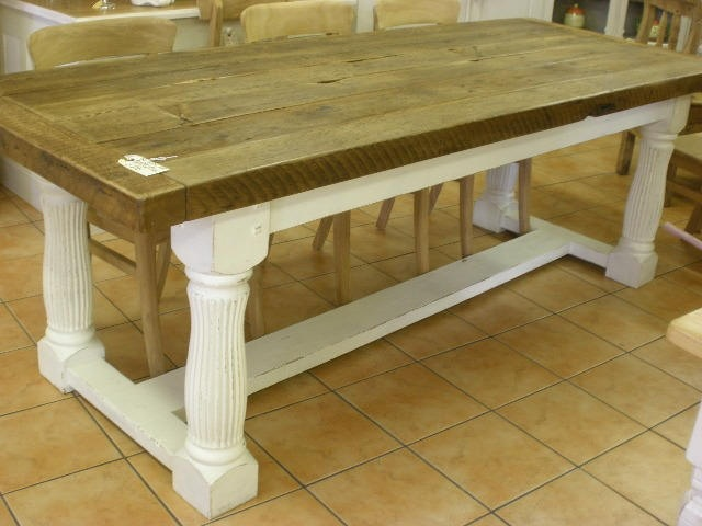 Painted legs, wood top dining table: Wood Tops, Pine Kitchen