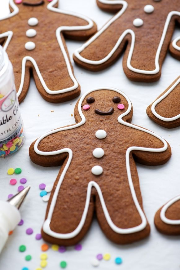 The Perfect Gingerbread Cookies...Spicy, semi-soft gingerbread cookies with a slightly crispy edge, that keep their shapes perfectly when baked.