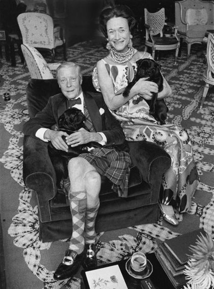 The Duke and Duchess of Windsor at their country house, Moulin la Tuilerie, in France. Photo by Patrick Lichfield for Vogue, Nov 1967.